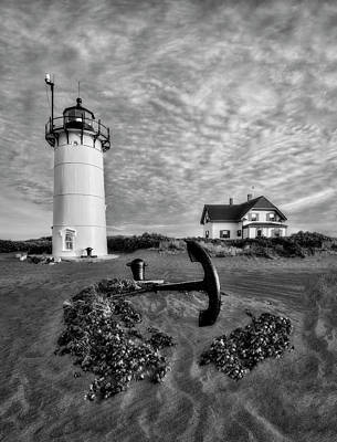 Photograph - Race Point Lighthouse Bw by Susan Candelario
