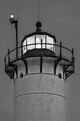 Land Photograph - Race Point Lighthouse New England Bw by Susan Candelario