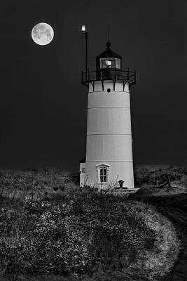 Scenery Photograph - Race Point P-town Ma Bw by Susan Candelario
