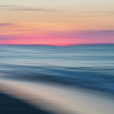 Abstract Seascape Photograph - Race Point Sunset by Katherine Gendreau