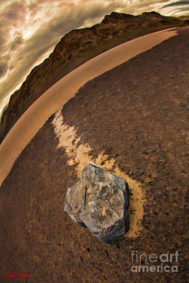 Photograph - Race Rock Death Valley Race Track by Blake Richards