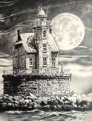 Race Rock Light House Art Print by Michael Lee Summers