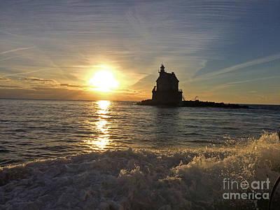 Photograph - Race Rock Lighthouse, New York by Cindy Lee Longhini