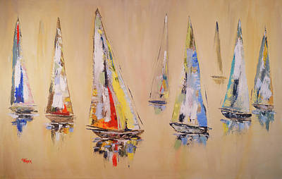 Painting - Race To Mackinac by Chris Fraser