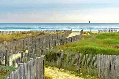 Race To The Beach Art Print