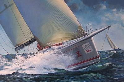 Painting - Race To The Finish - Wild Oats X by Colin Parker