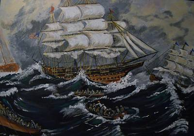 Painting - Race To The Ship by Yvonne Breen
