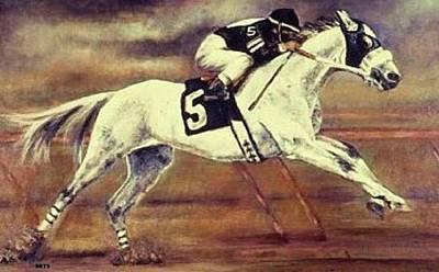 Racehorse 5 Art Print by Bets Klieger