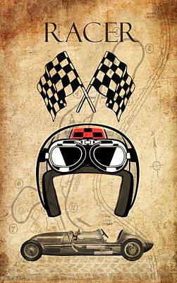 Digital Art - Racer by Greg Sharpe