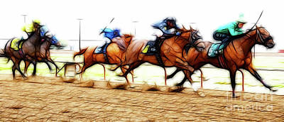 Photograph - Racetrack Dreams 7 by Bob Christopher