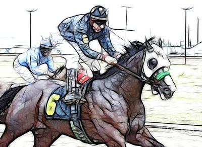 Photograph - Racetrack Dreams 8 by Bob Christopher