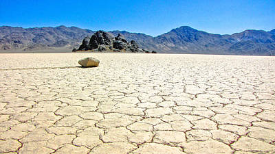 Dry Lake Racing Photograph - Racetrack Playa Death Valley 3 by Backcountry Explorers