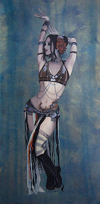 Iran Painting - Rachel Brice - Belly Dancer by Kelly Jade King