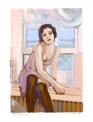 Gouache Painting - Rachel by H James Hoff