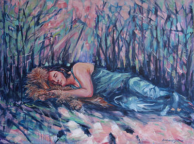 Painting - Rachel In The Sun-splattered Forest by Lisa Kimberly Glickman