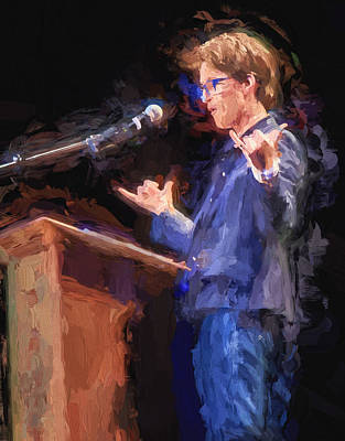 Liberal Digital Art - Rachel Maddow Hang Loose At The Podium by Vivian Frerichs