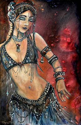 Bellydancer Painting - Rachel by Margaret Eve