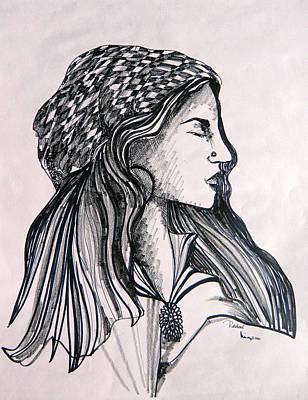 Rachel Art Print by Mindy Newman