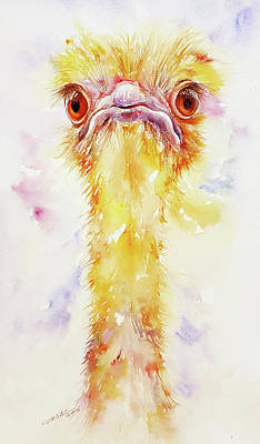 Painting - Rachel The Yellow Ostrich by Arti Chauhan