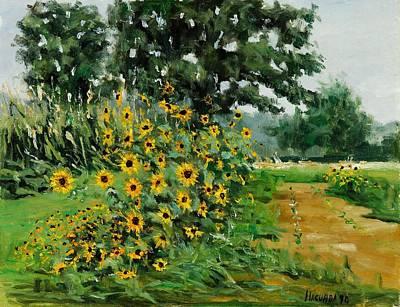 Hudson Valley Painting - Rachel's Sunflowers by Robert James Hacunda
