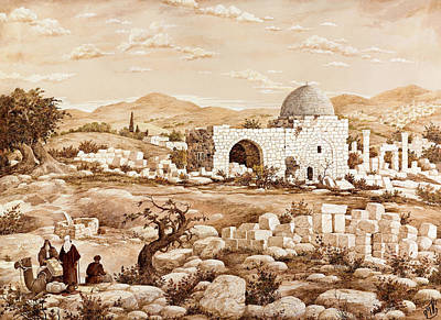 Rachel's Tomb Print by Aryeh Weiss