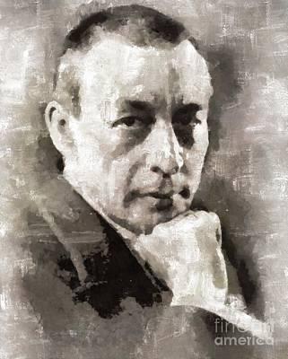 Rachmaninoff, Composer Art Print by Mary Bassett