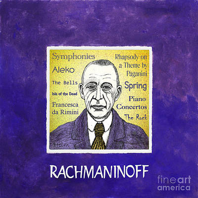 Rachmaninoff Art Print by Paul Helm