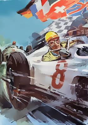 Digital Art - Racing 8 by Gary Grayson