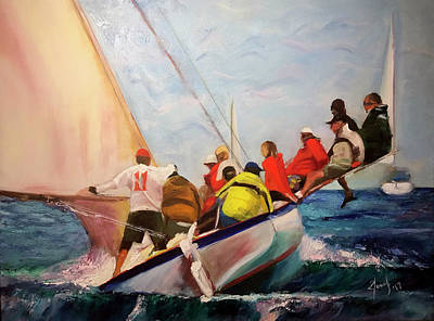 Rage Painting - Racing Abaco Rage by Josef Kelly