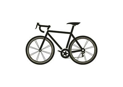 Digital Art - Racing Bicycle by Carlos Diaz