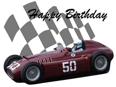 Photograph - Racing Car Birthday Card 1 by John Colley