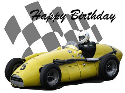 Photograph - Racing Car Birthday Card 4 by John Colley