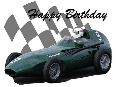 Photograph - Racing Car Birthday Card 5 by John Colley
