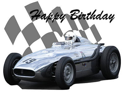 Photograph - Racing Car Birthday Card 7 by John Colley