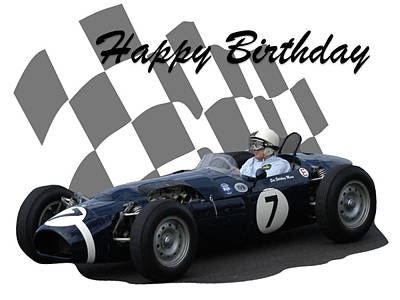 Photograph - Racing Car Birthday Card 8 by John Colley