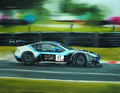 Racing Car Art Print by Nolan Clark