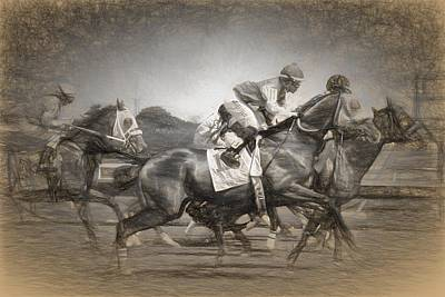 Photograph - Racing Drawn by Alice Gipson