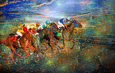 Fantasy Royalty-Free and Rights-Managed Images - Racing Energy II by Betsy Knapp