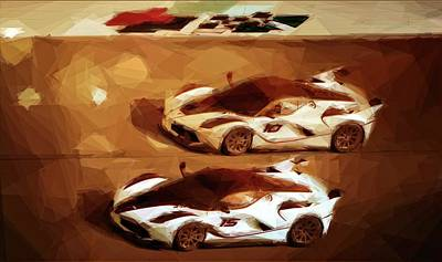 Photograph - Racing Ferraris by Alice Gipson