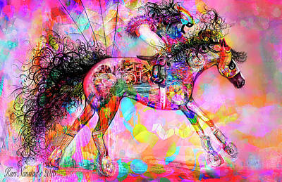 Racing For Time Art Print by Kari Nanstad