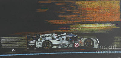Benetton Wall Art - Drawing - Racing Into The Night by Lorenzo Benetton