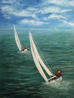 Painting - Racing by Roseann Gilmore