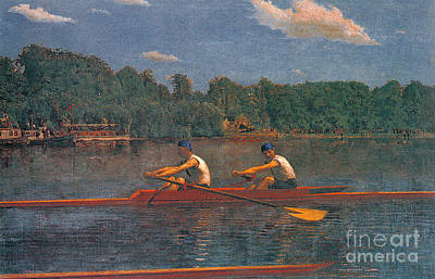 Photograph - Racing Scull 1873 by Padre Art