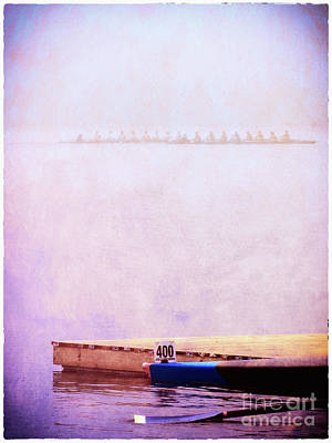 Photograph - Racing Shells In The Fog by Judi Bagwell