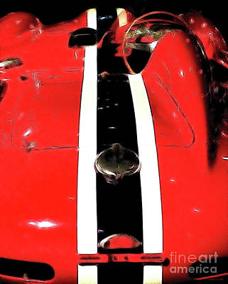 Automotive Art Series Wall Art - Photograph - Racing Stripes by Wingsdomain Art and Photography