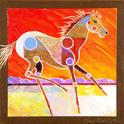 Art Print featuring the painting Racing The Desert by Bob Coonts