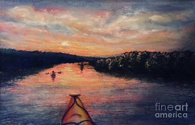 Racing The Sunset Art Print