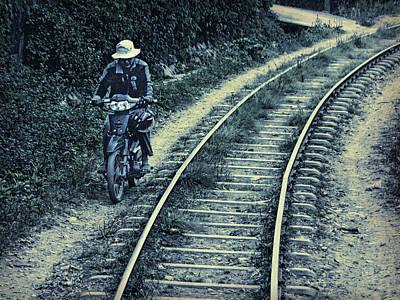 Racing The Train Art Print by Claude LeTien