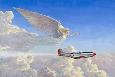 Soaring Painting - Racing The Wind by Richard Hescox