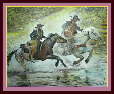 Painting - Racing Through The Water by Mike Benton